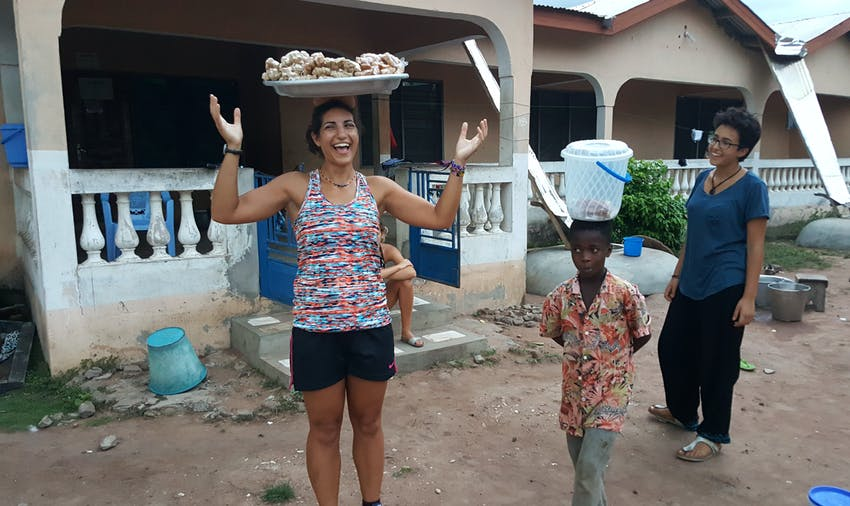 Experiencing local life is a highlight of volunteering in Ghana