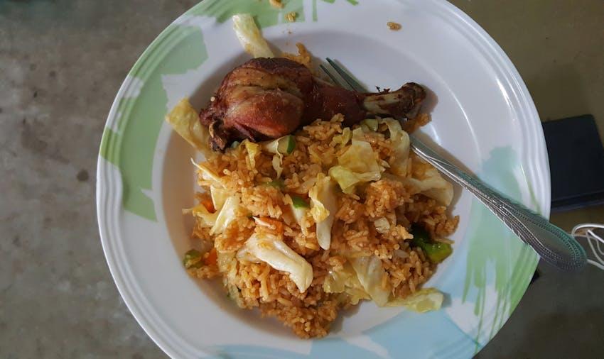 Volunteer food in Ghana