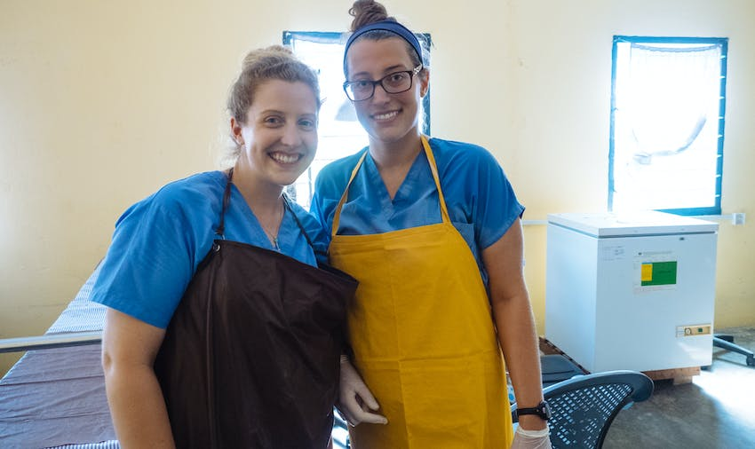 Volunteers on the Medical project in Ghana