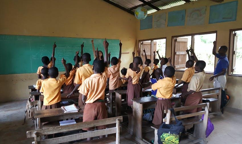 IVHQ volunteer Lara on the Teaching project in Ghana