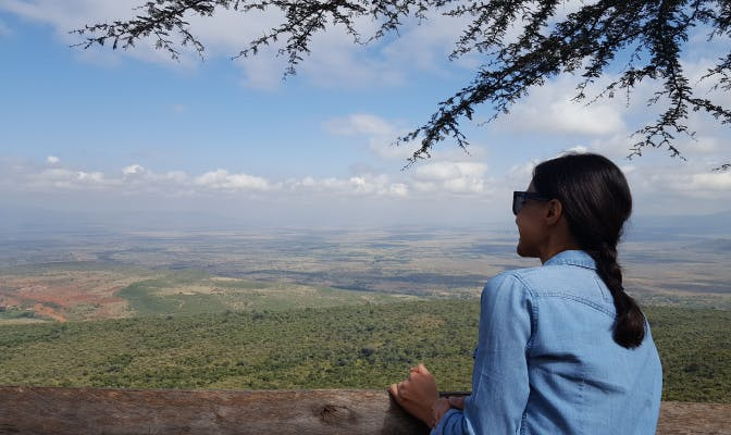 You can expect breathtaking views when volunteering in Kenya