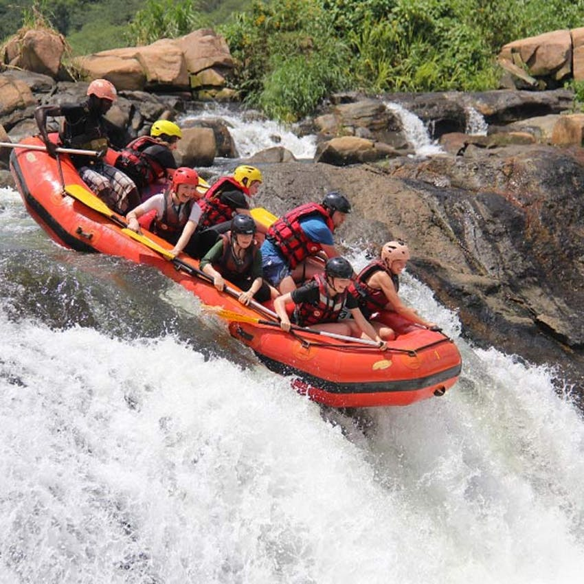 White Water rafting down the Nile as a volunteer in Uganda with IVHQ