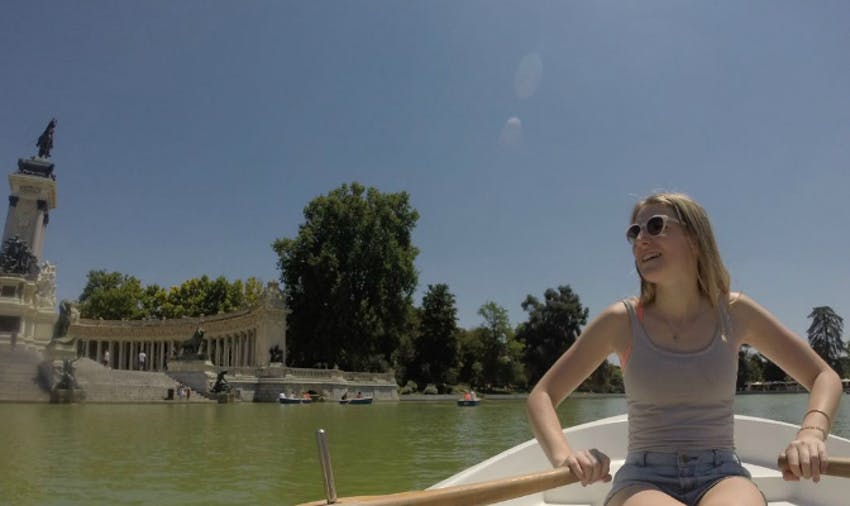 Rowing in Madrid with IVHQ