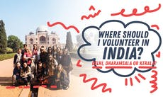 Where Should I Volunteer in India? Delhi, Dharamsala or Kerala?