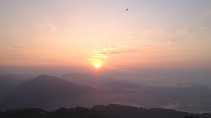 IVHQ Staff Member's View Of Sunrise On Sarankot