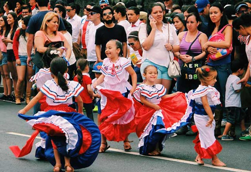 Independence Day parade in Costa Rica