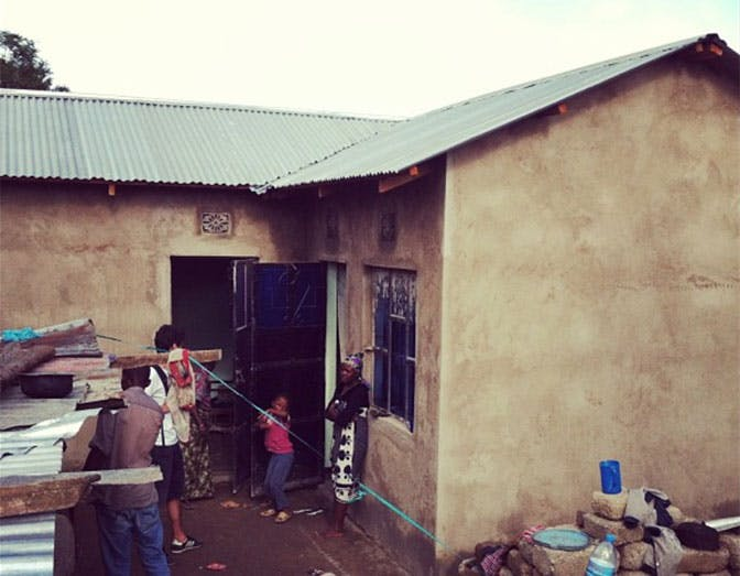 The house that Zac built as an IVHQ volunteer in Tanzania
