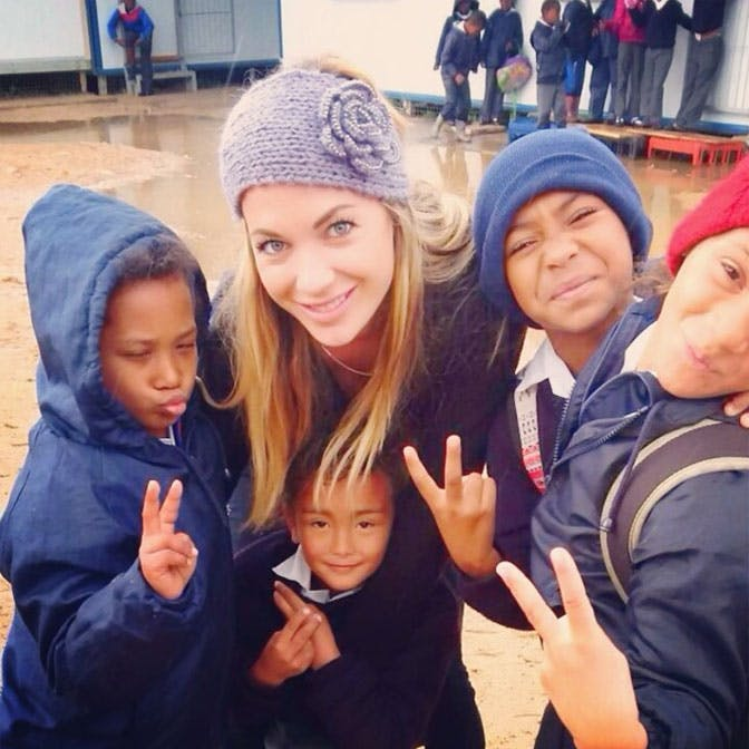 Volunteer teacher Alyssa Ramos volunteering in South Africa with IVHQ