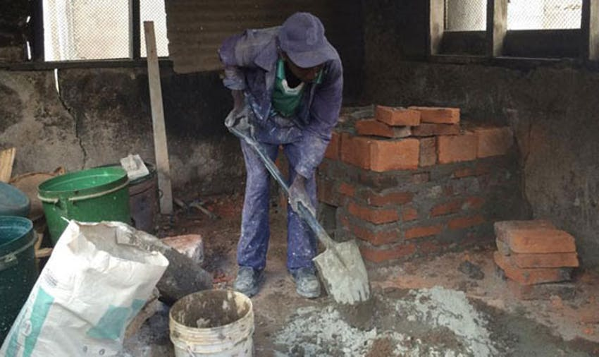 Building a kitchen in Tanzania