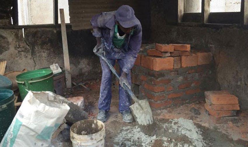 Building a kitchen in Tanzania