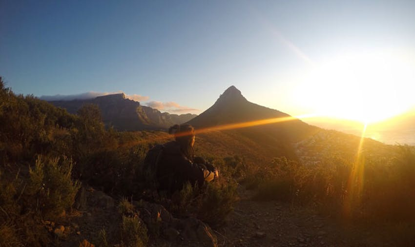 Catch a stunning sunset while volunteering in South Africa