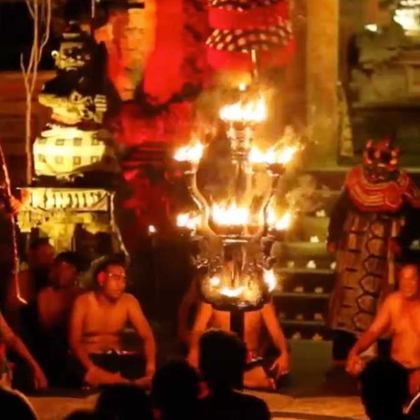 Fire dance show in Bali with IVHQ