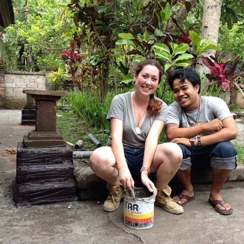 IVHQ constriction volunteers in Bali