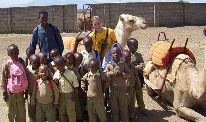 Teaching volunteer Megan, in Tanzania with IVHQ