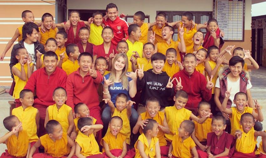 IVHQ volunteer in Nepal with IVHQ