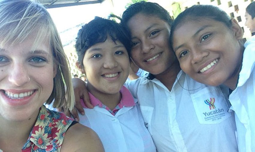 IVHQ volunteer teacher, Kellane, in Mexico