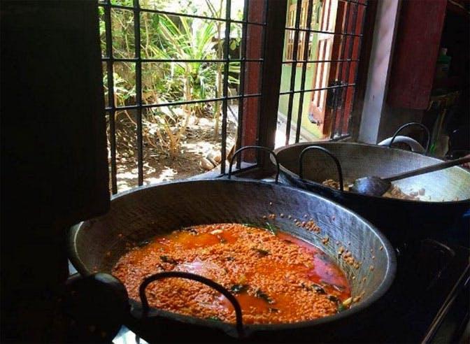 The volunteer food for IVHQ volunteers in Sri Lanka