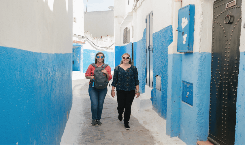 The sreets of Rabat make for some great exploring for IVHQ volunteers in Morocco