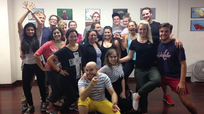 IVHQ volunteers participate in the free Salsa lessons in Costa Rica!