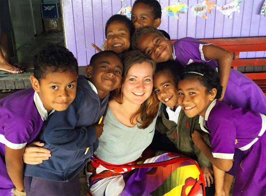 Emily as an IVHQ Childcare volunteer in Fiji