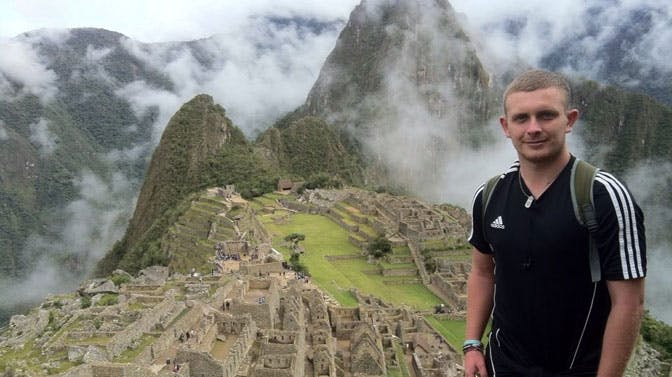 Craig visits Machu Picchu as a volunteer in Peru