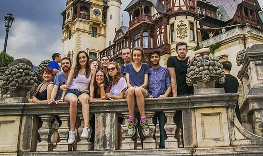 Group of IVHQ International Volunteers in Romania