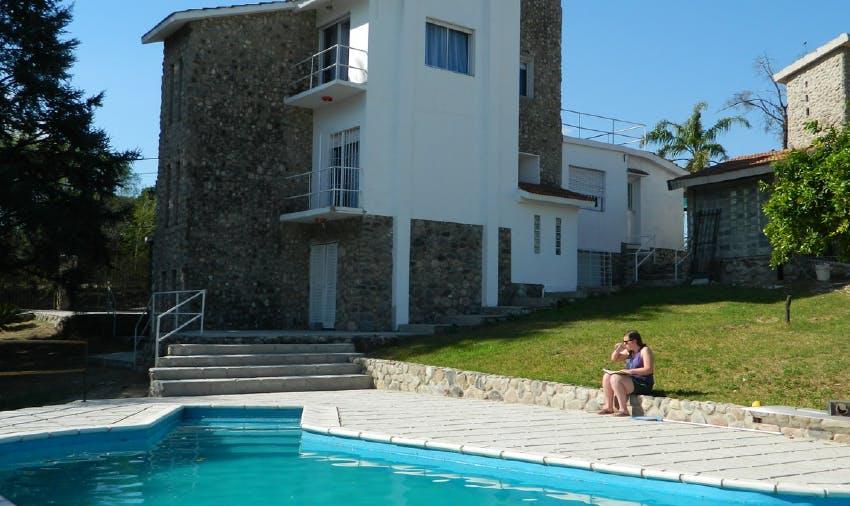 Pool alongside IVHQ Argentina accommodation