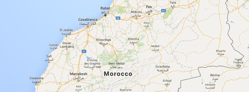 Where Should You Volunteer In Morocco - Map