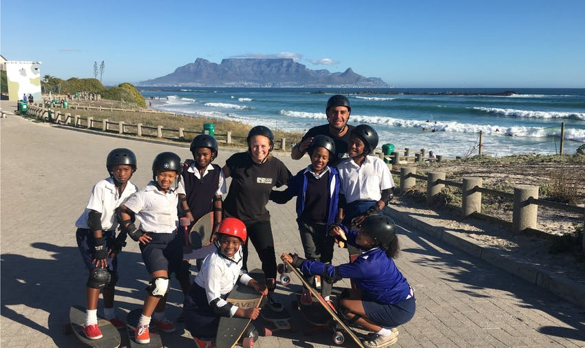 Volunteering in South Africa: surf, skate and swim project
