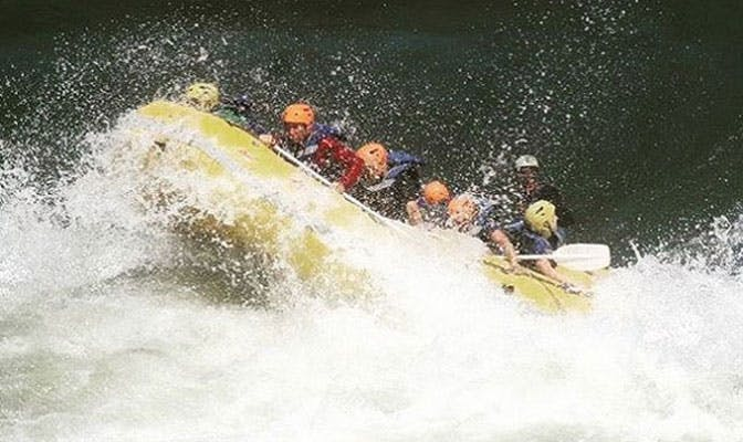 White water rafting as a volunteer in Victoria Falls with IVHQ