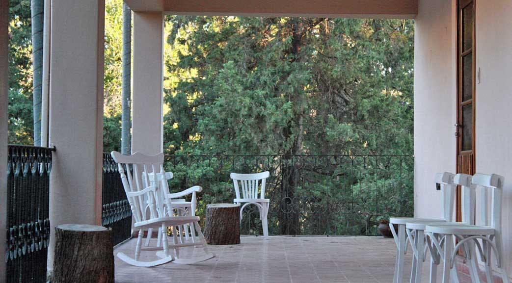 Relax on the balcony at the volunteer house in Argentina