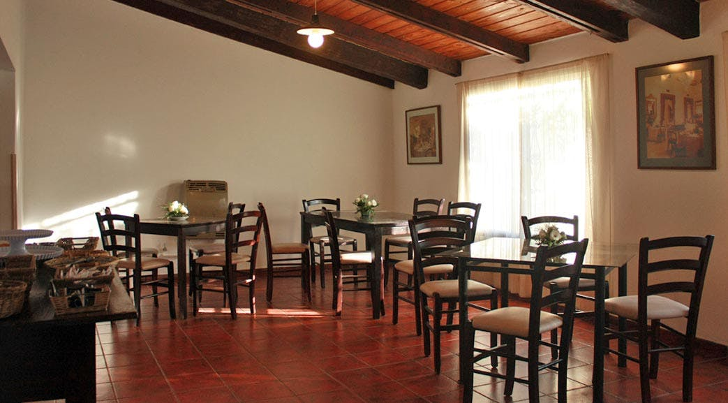 Volunteer dining room in Argentina