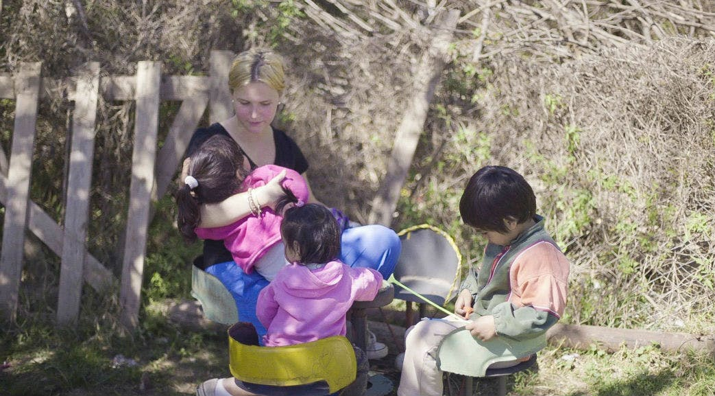 Outdoor play with the children in Argentina