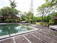 IVHQ Volunteer accommodation pool in Lovina, Bali