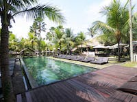 Visit nearby resort pools in Ubud, Bali with IVHQ