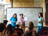 IVHQ volunteer orientation in Ubud, Bali with IVHQ