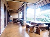 IVHQ volunteer house social area in Ubud, Bali