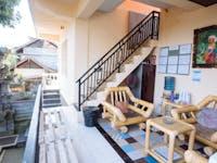 IVHQ volunteer house social balcony in Ubud, Bali