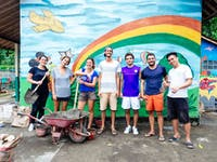 Construction and Renovation volunteer group in Ubud, Bali with IVHQ
