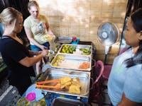 Volunteer dinner being served in Ubud, Bali with IVHQ