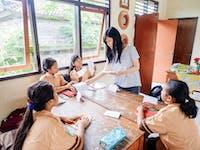 IVHQ volunteer teacher in Ubud, Bali with IVHQ