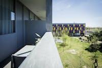 Volunteer bedroom balcony in Barcelona with IVHQ