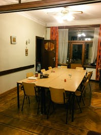 Volunteer Dining room in Belgium with IVHQ