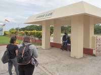 Volunteers arrive at Placencia airport in Belize