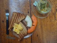 Typical volunteer breakfast with IVHQ in Brazil