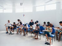 Typical classroom in Brazil with IVHQ