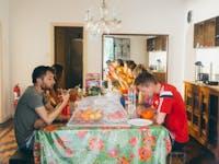 IVHQ volunteers enjoy breakfast in Brazil