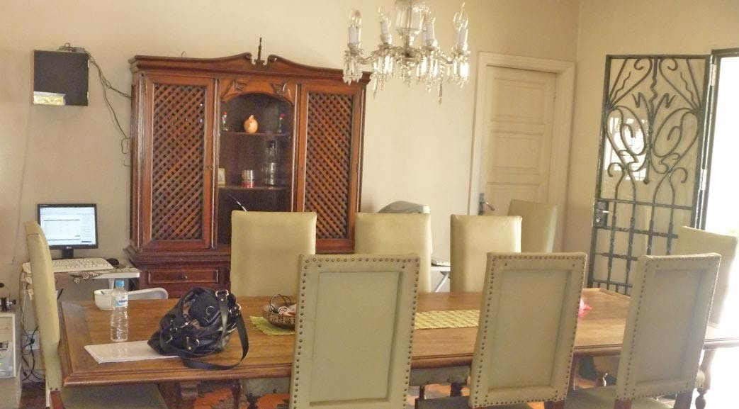 Dining Room in volunteer accommodation in Rio