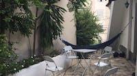 Volunteer accomodation outdoor living area