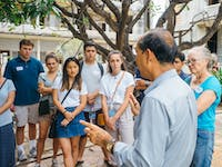 IVHQ volunteers explore Phnom Penh, Cambodia with local tour guide